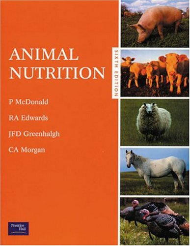 Animal Nutrition  6th 2002 (Revised) edition cover