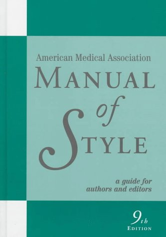 Manual of Style A Guide for Authors and Editors 9th 1998 (Revised) edition cover