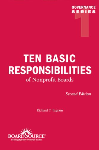 Ten Basic Responsibilities of Nonprofit Boards 2nd 2008 edition cover