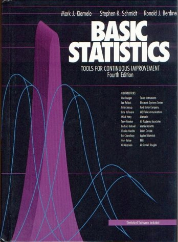 Basic Statistics : Tools for Continuous Improvement 4th 2000 edition cover
