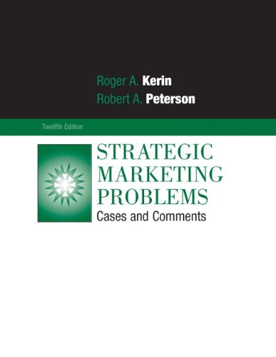 Strategic Marketing Problems Cases and Comments 12th 2010 edition cover