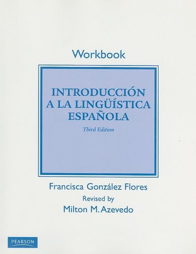 Introduccion a la Linguistica Espanola  3rd 2009 (Student Manual, Study Guide, etc.) edition cover