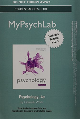NEW MyPsychLab with Pearson EText -- Standalone Access Card -- for Psychology  4th 2015 edition cover