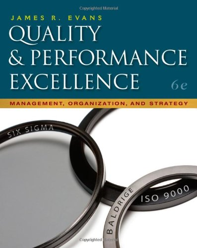 Quality and Performance Excellence  6th 2011 edition cover
