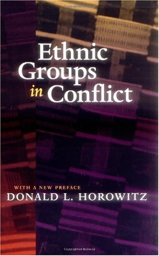 Ethnic Groups in Conflict  2nd 2000 (Revised) edition cover