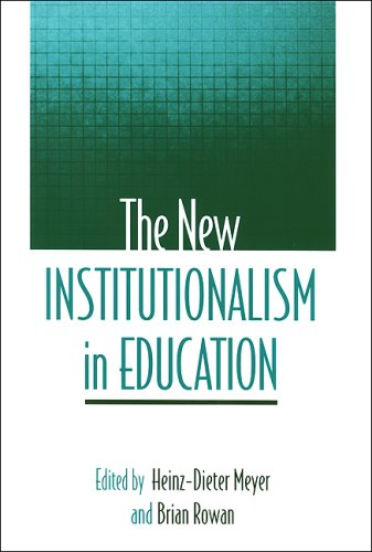 New Institutionalism in Education  N/A edition cover