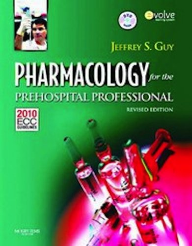Pharmacology for the Prehospital Professional   2012 edition cover