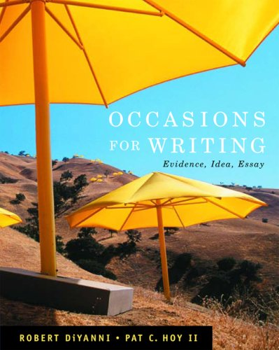 Occasions for Writing Evidence, Idea, and Inquiry  2008 edition cover