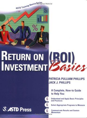 Return on Investment Basics   2006 9781562864064 Front Cover