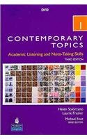 Contemporary Topics 1: Academic Listening and Note-taking Skills Intermediate  2009 edition cover
