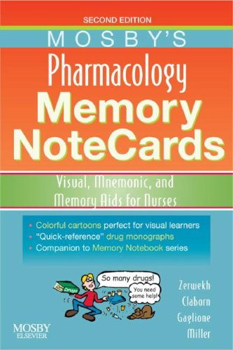 Pharmacology Memory NoteCards Visual, Mnemonic, and Memory AIDS for Nurses 2nd 2008 edition cover