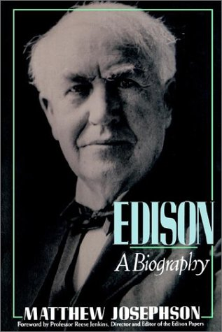 Edison A Biography  1959 9780471548065 Front Cover