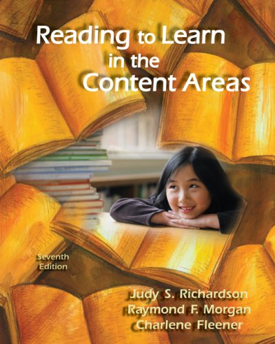 Reading to Learn in the Content Areas  7th 2009 edition cover