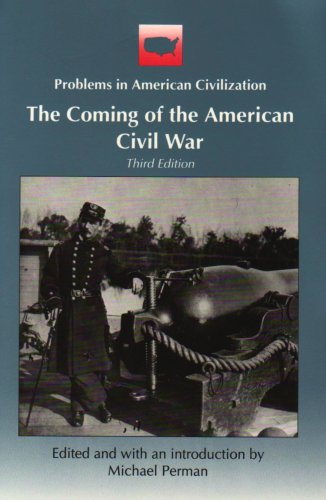 Coming of the American Civil War  3rd 1993 edition cover