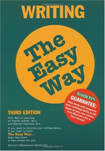 Writing the Easy Way  3rd 2000 9780764112065 Front Cover