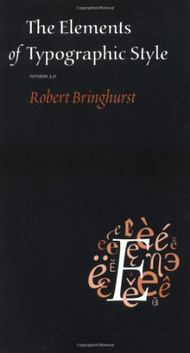 Elements of Typographic Style  3rd 2004 edition cover