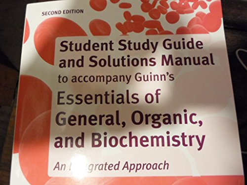 Study Guide and Solutions Manual for Essentials of General, Organic, and Biochemistry  2nd 2014 edition cover