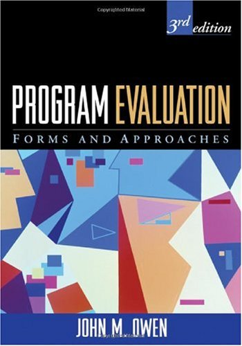 Program Evaluation Forms and Approaches 3rd 2007 edition cover