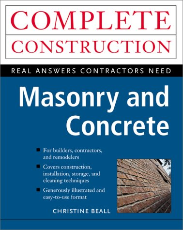 Masonry and Concrete   2001 9780070067066 Front Cover