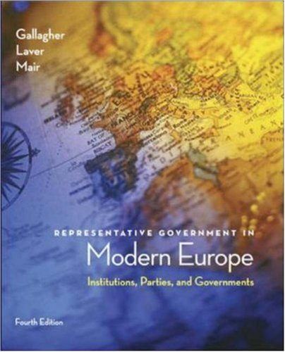 Representative Government in Modern Europe  4th 2006 (Revised) 9780072977066 Front Cover