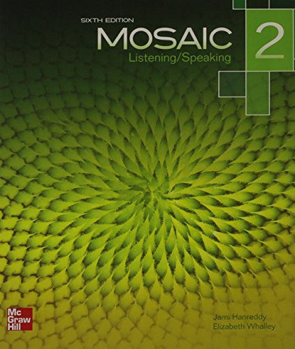 Mosaic Level 2 Listening/Speaking Student Book Plus Registration Code for Connect ESL  6th edition cover