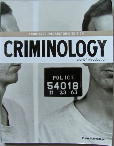 CRIMINOLOGY:BRIEF INTRO.>ANNOT.INSTRS< N/A edition cover