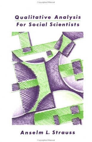 Qualitative Analysis for Social Scientists   1987 edition cover