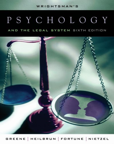 Psychology and the Legal System  6th 2007 edition cover