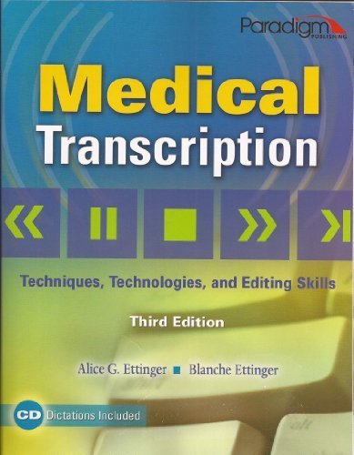 MEDICAL TRANSCRIPTION-TEXT 3rd 2009 edition cover