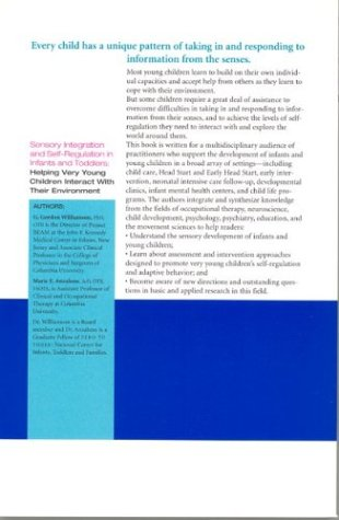 Sensory Integration and Self-Regulation in Infants and Toddlers Helping Very Young Children Interact with Their Environment  2001 edition cover