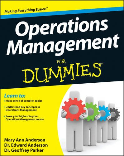 Operations Management for Dummies   2013 edition cover