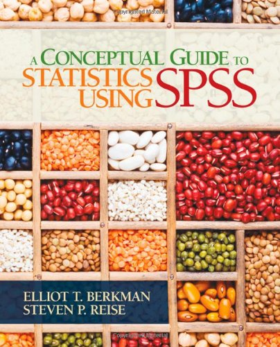 Conceptual Guide to Statistics Using SPSS   2012 edition cover