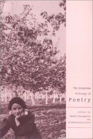 Broadview Anthology of Poetry   1993 9781551110066 Front Cover