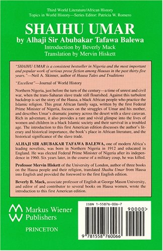 Shaihu Umar A Historical Novel about Slavery in Africa N/A edition cover