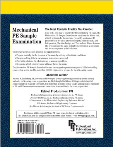 Mechanical PE Sample Examination   2004 edition cover
