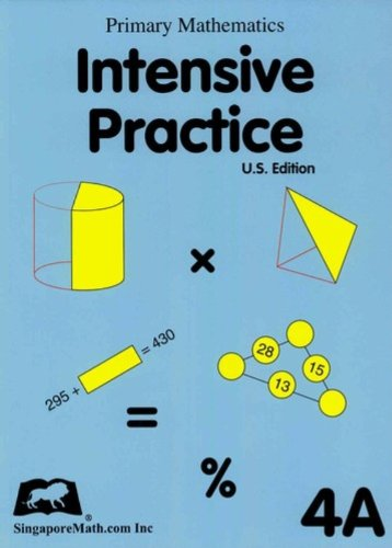 Primary Mathematics Intensive Practice U. S. Edition 4A  2004 edition cover