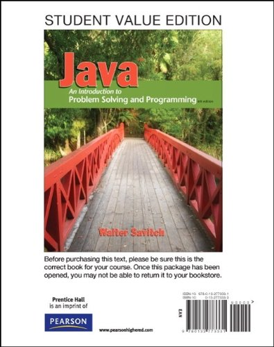 Student Value Edition for Java An Introduction to Problem Solving and Programming Plus MyProgrammingLab with Pearson EText -- Access Card Package 6th 2012 9780132766067 Front Cover