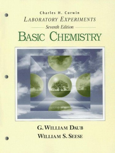 Basic Chemistry Laboratory Experiments 7th 1996 (Lab Manual) 9780133785067 Front Cover