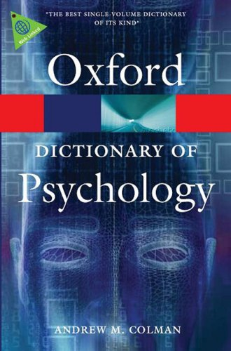 Dictionary of Psychology  3rd 2009 9780199534067 Front Cover