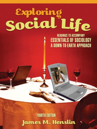 Exploring Social Life Readings to Accompany Essentials of Sociology - A Down-to-Earth Approach 4th 2009 edition cover