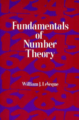 Fundamentals of Number Theory   1996 (Unabridged) edition cover
