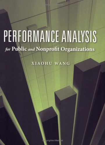 Performance Analysis for Public and Nonprofit Organizations   2010 edition cover