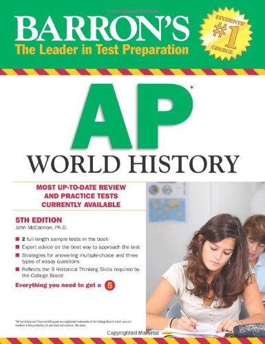 Barron's AP World History, 5th Edition  5th 2012 (Revised) edition cover