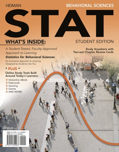 Behavioral Sciences STAT   2012 9781111342067 Front Cover