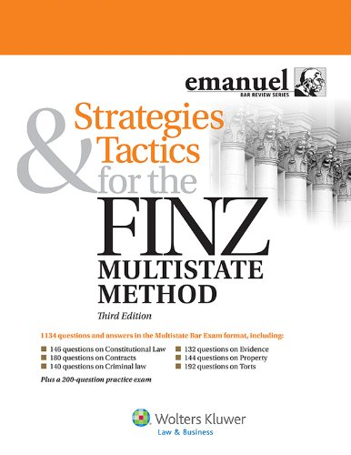 Strategies and Tactics for the Finz Multistate Method  3rd (Student Manual, Study Guide, etc.) edition cover