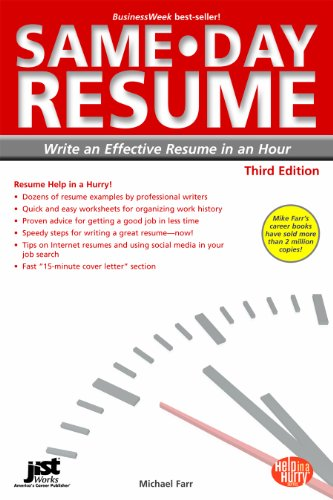 Same-Day Resume Write an Effective Resume in an Hour 3rd edition cover