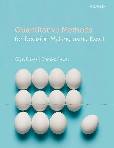 Quantitative Methods for Decision Making Using Excel   2012 edition cover