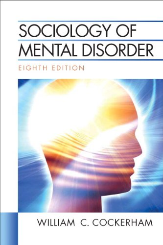 Sociology of Mental Disorder  8th 2011 edition cover