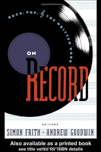 On Record Rock, Pop and the Written Word  1990 edition cover