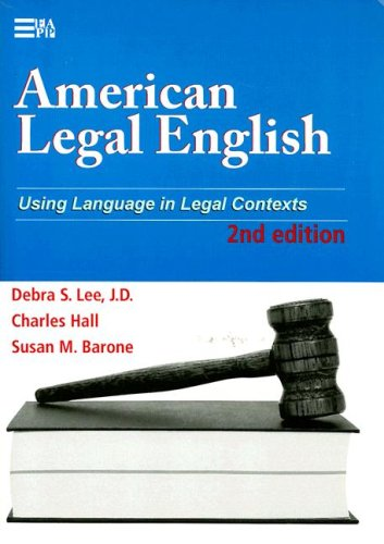 American Legal English Using Language in Legal Contexts 2nd edition cover